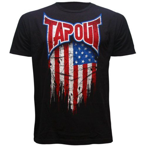 Ufc Tapout 2: Tapout USA Global Collection Adult T-shirt (X-Large, Black