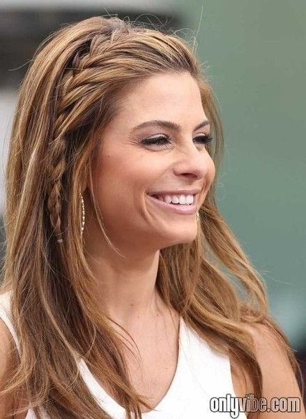 101 Pinterest Braids That Will Save Your Bad Hair Day | Maria Menounos' Simple Side Braid