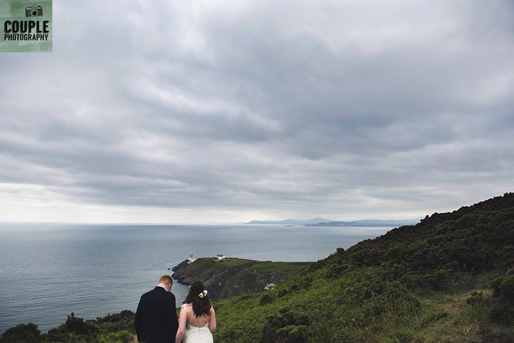 The scenery at Howth Summit. Wedding in The Abbey Tavern, Howth. Photographed by Couple Photography.