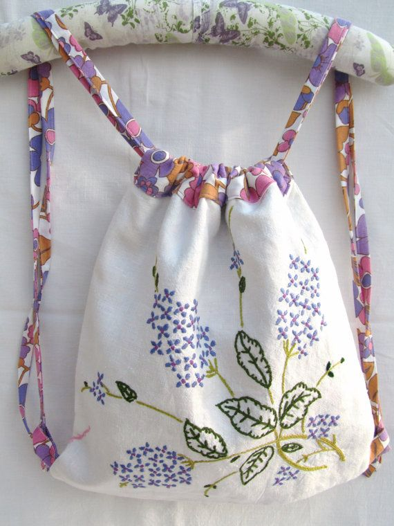 Images about vintage embroidered linens repurposed
