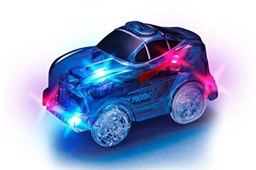 MAGIC TRACKS La Voiture bleue pour un circuit encore plus incroyablement amusant, modulable et brillant dans le noir – Vu à la Télé: •…