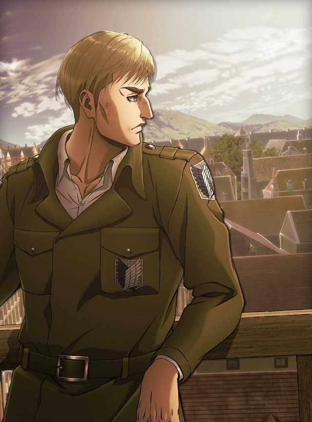 Erwin Smith Official Arts In Uniform Attack On Titan Season Attack On Titan Anime Attack On Titan Art