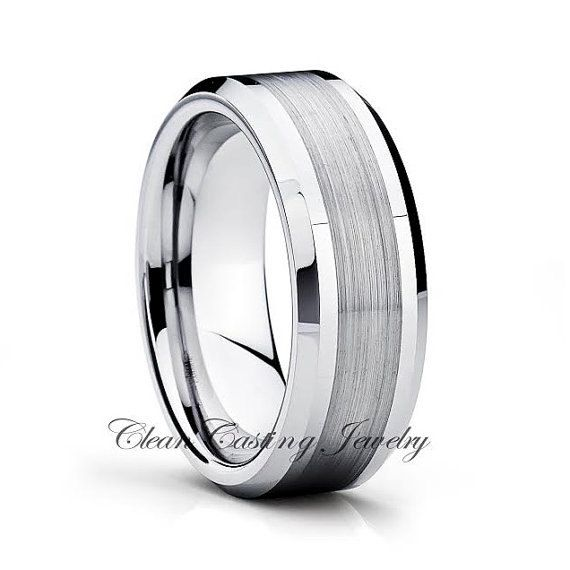 Tungsten Wedding Band,Tungsten Wedding Ring,Beveled,Brushed Polish,Anniversary Ring,Engagement Band,His,Hers,7mm