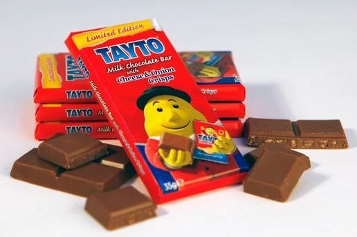 Mr. Tayto's Cheese and Onion chocolate bar: weird? Gross? Genius?