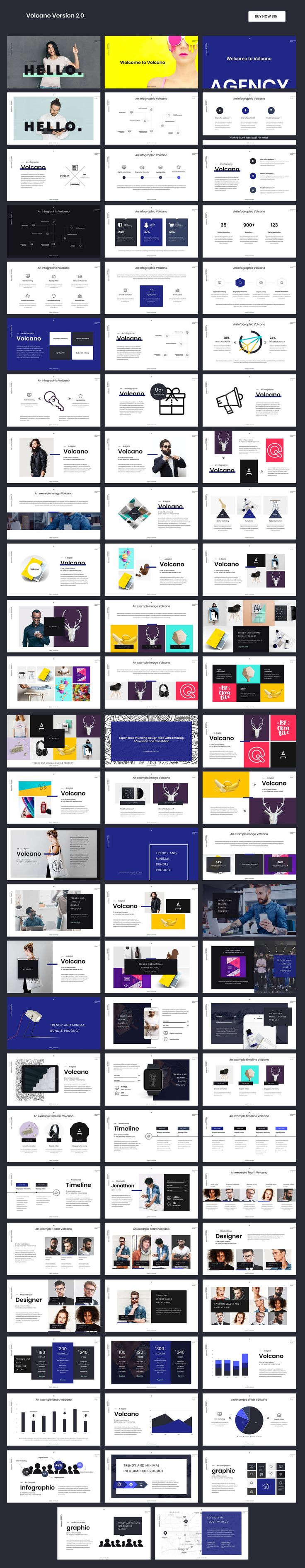 Modern Powerpoint Template #presentation #ppt #colorful