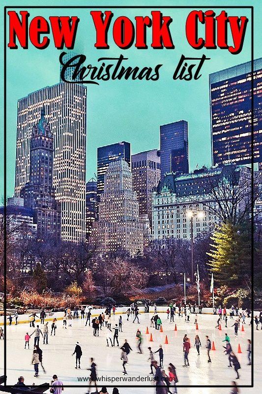 New York City | Manhattan | Christmas in NYC | Christmas in Manhattan | Rockefeller Center Christmas | NYC Christmas Tree | Wollman Rink Christmas | Central Park Christmas | Christmas in New York City | what to do at Christmas in New York