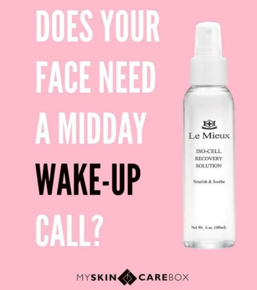 Le Mieux Iso-Cell Recovery Solution- Spray on bug bites, rashes, burns, irritated skin. Just about anything. #MiracleSpray #skincare #antiaging #diy #facial #LeMieuxcosmetics #Myskincarebox
