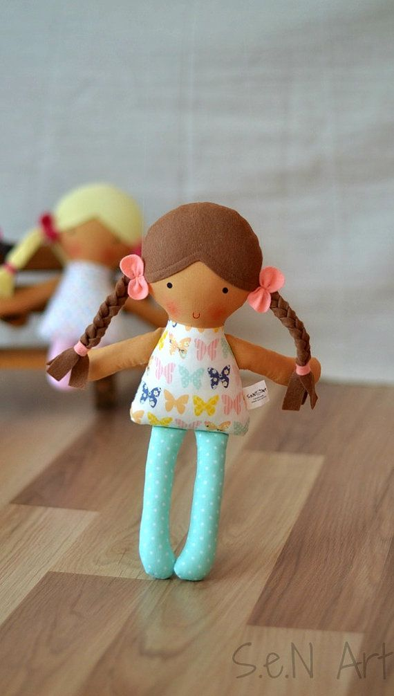 Handmade Cloth Doll Fabric Doll Hand Made Rag dolls by SenArt1