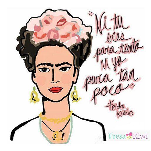 """Fresa Kiwi Bags By MonsCantú en Instagram: """"Ni tú eres para tanto ni yo para tan poco... Frida Kahlo Quote. Seguimos preparando nuestra colección de llaveros Frida. Esperalos """""""
