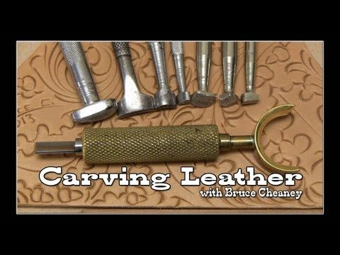 [This is a great short series on Carving Leather - Bruce Cheaney makes it look easy check it out] Carving Leather Tutorial with Bruce Cheaney Part 3 http://www.LeathercraftSite.com This carving exercise started off by cutting in the border and then lightly scratching a design of two oak leaves and two acorns within that border next I took my Barry King swivel knife with the 1/4 hollow ground blade and cut the oak leaves and acorns into the ...