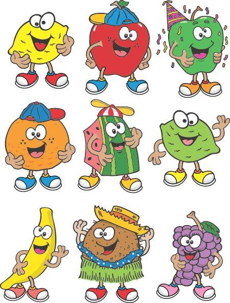 Funny Cartoon Clip Art Free   Funny Fruit Character   Cartoon Fruit Image   Clip Art