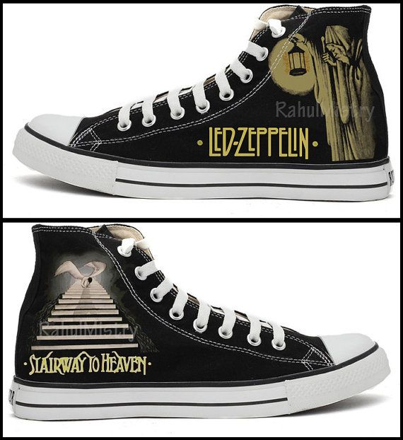Led Zeppelin Custom-Made Converse Shoes by RahulMistry on Etsy