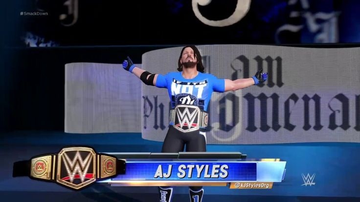 WWE 2k17 AJ Styles Updated Entrance T-shirt HD PS4 GAMEPLAY