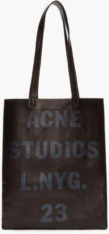 Acne Black Leather Minimalist Rumor Bag - Lyst