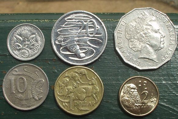 Australian currency - coins after the demise of the 1 and 2 cent coins