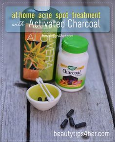 Acne Spot Treatment at Home with Activated Charcoal | Beauty and MakeUp Tips