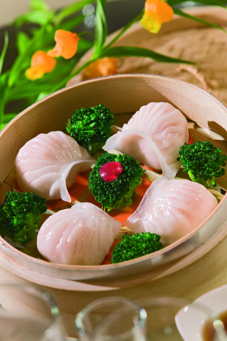traditional delicious steamed dumplings of Hangzhou, China