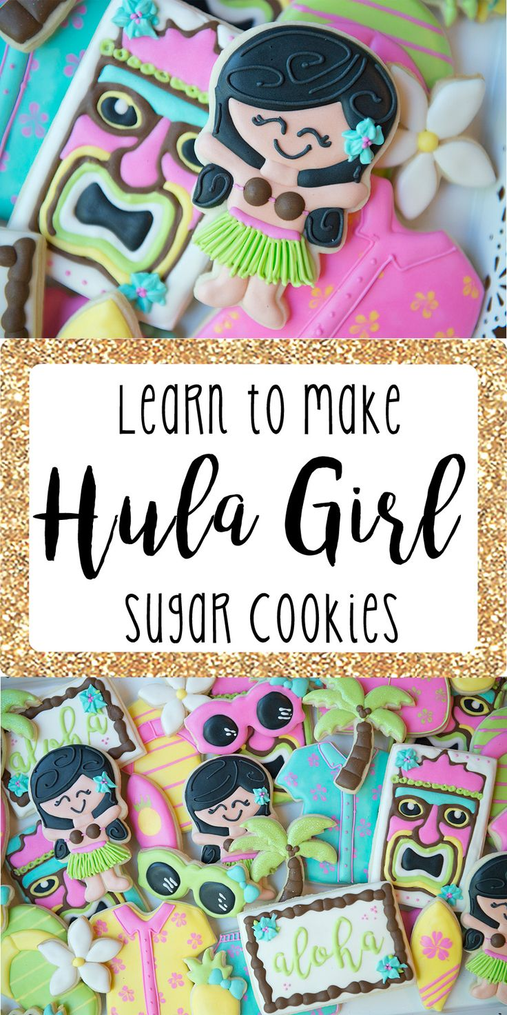 Hula Girl – Cami's Cookie Jar Learn to make this hula girl sugar cookie decorated with royal icing! Sugar cookie tutorial