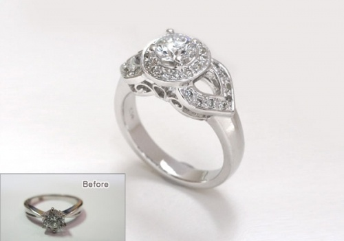 Remade wedding ring, remake cost except main stone, about $550 [리폼비용]