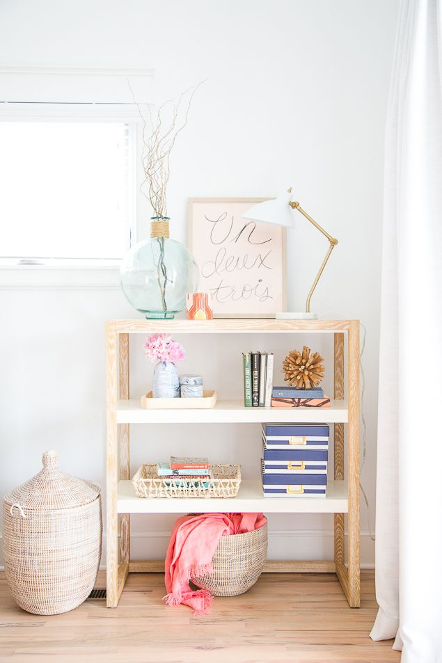 www.pencilshavingsstudio.com  Beautifully styled bookshelves don't just happen. They take a little bit of planning and know-how to get them just right. I've got 5 tips to make your shelves instagram-worthy plus my favorite budget-friendly finds for stylin