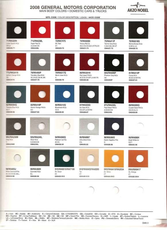 108 Best Auto Paint Colors Codes Images On Pinterest