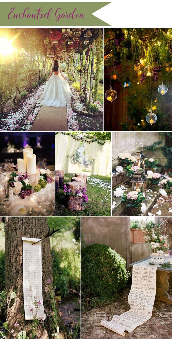 enchanted garden fairtale wedding ideas