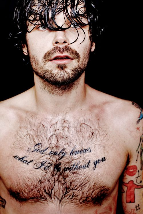Simon Neil - sweaty, hairy, beautiful Scotsman...I've died and gone to heaven