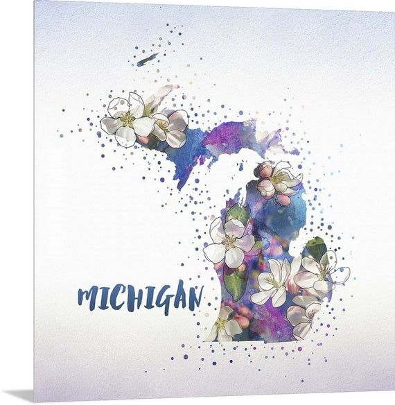 Michigan State Flower Apple Blossom Metal Wall Art Print Etsy In 2020 Circle Canvas Circle Art Circle Artwork