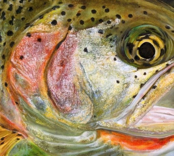 Looking forward to catching some of these this year!: Fish Pattern, Fly Fishing Art, Cutthroat Trout, Flyfishing Art, Fly Fishing Flies Trout, Trout Art, Trout Painting, Rainbow Trout So
