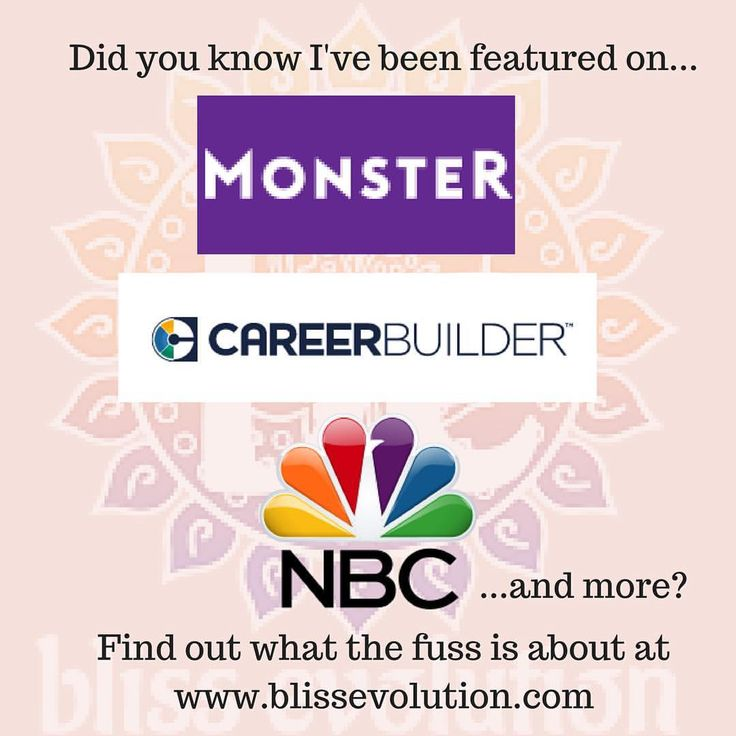 bliss evolution has been featured on monster, career builder, and NBC. See what all the fuss is about! career advice, career tips, job search, career change, how do I find a job, how do I change careers