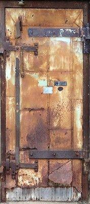 "'Metal Rusty Door' Wrap (Faux/Trompe l'oeil Door ""sticker"" to wrap around an interior door) ~ Wrap is taken from a photo of a door at the Mill City Museum. | Rm Wraps Store"