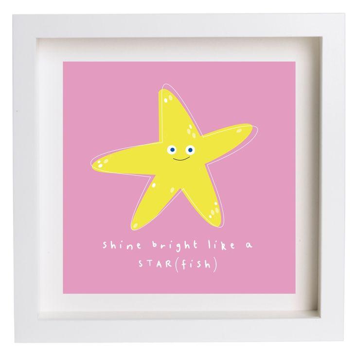 Star Fish Nursery Square PRINT