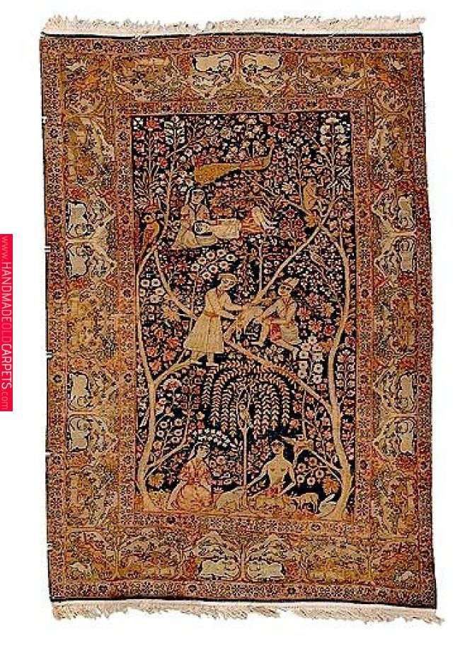 Oriental Rugs Kerman Pictorial