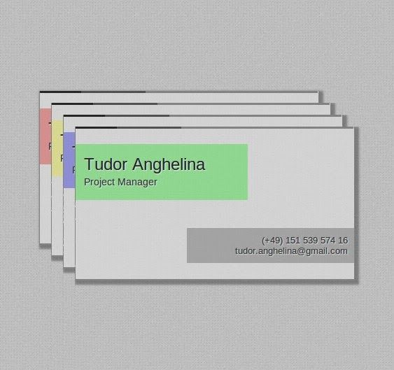 After seeing a huge interest in the Single Page Business Card Tutorial i decided to create a Single Page Business Card 2.0 Template. Besides listing your title and contact details the 2.0 template also has some nice CSS3 transition effects, is available in 4 colors and the best part: IT'S FREE FOR DOWNLOAD.