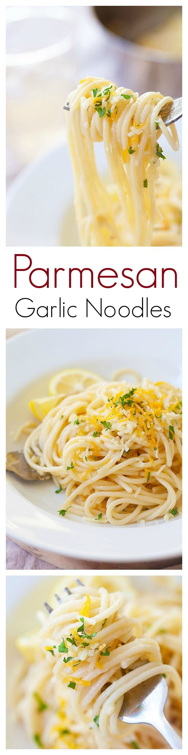 Quick and easy Parmesan Garlic Noodles with garlic and Parmesan cheese. This Parmesan Garlic Noodles recipe takes 20 mins and great for the entire family | rasamalaysia.com | #pasta #noodles
