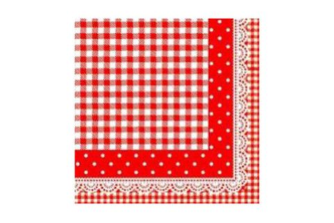 Red Checkered & Polka Dot Paper Napkins | Pop Roc Parties
