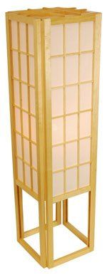 Amazon.com - Oriental Furniture Discount Price Classic Asian Floor Lamps, 45-Inch Japanese Window Pane Rice Paper Lantern -Black