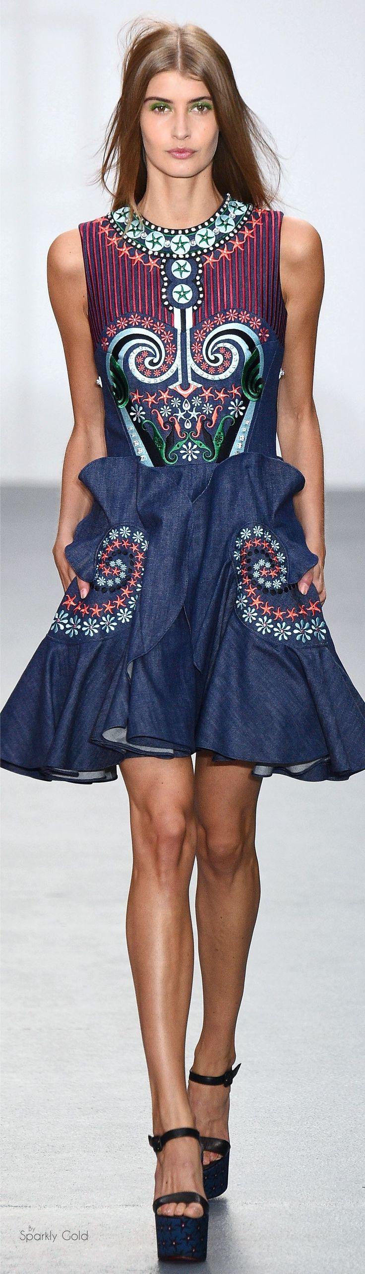 #Farbbberatung #Stilberatung #Farbenreich mit www.farben-reich.com Holly Fulton Spring 2016 RTW