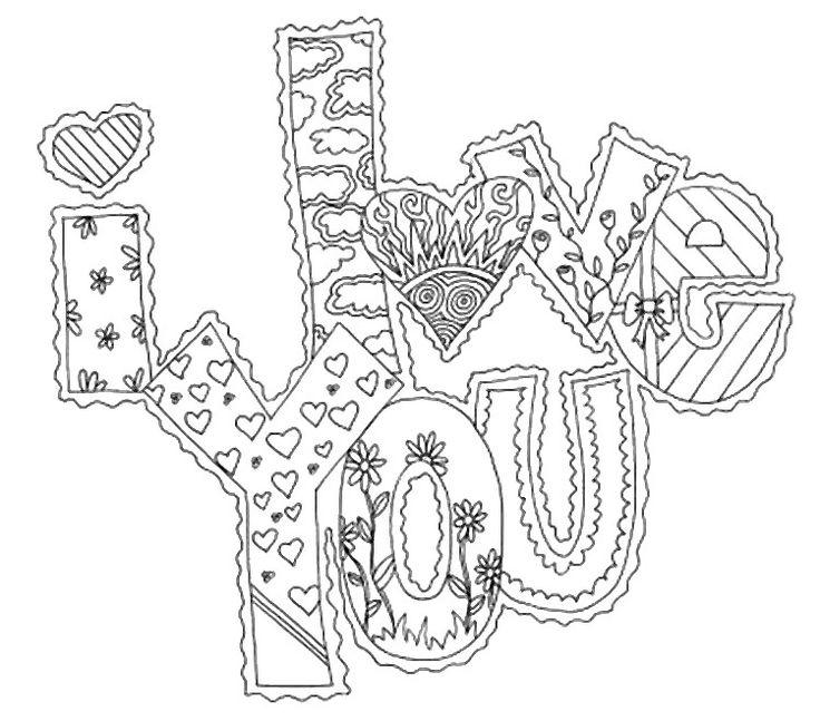 Desenho para colorir Amor