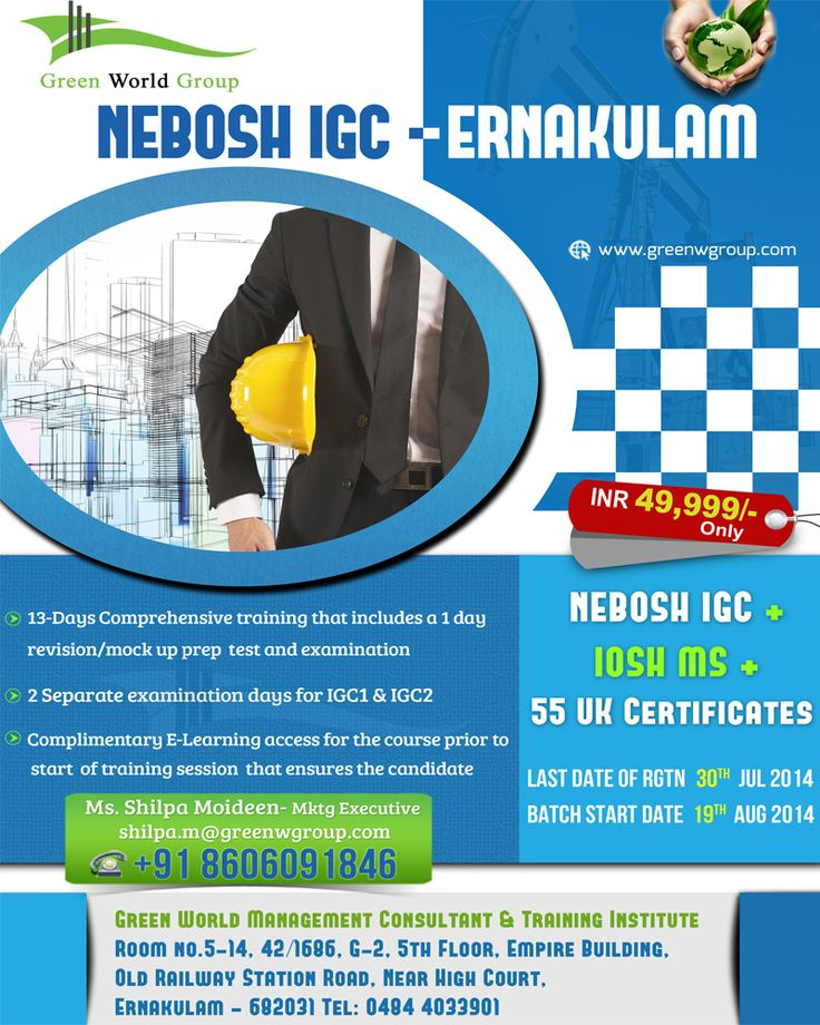 Green World Group Offers For NEBOSH IGC Course At 49999 Only