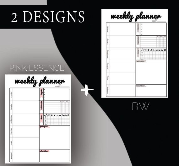 Weekly Printable Planner by BorbolloPlanners on Etsy