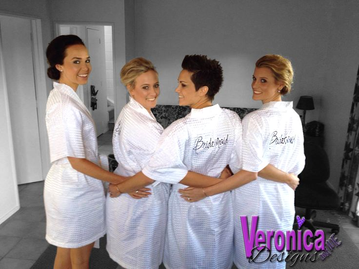 Custom Embroidered Bride and Bridesmaid Robe Designs