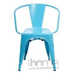 Krzesło Paris Arms niebieskie - inspirowany Tolix