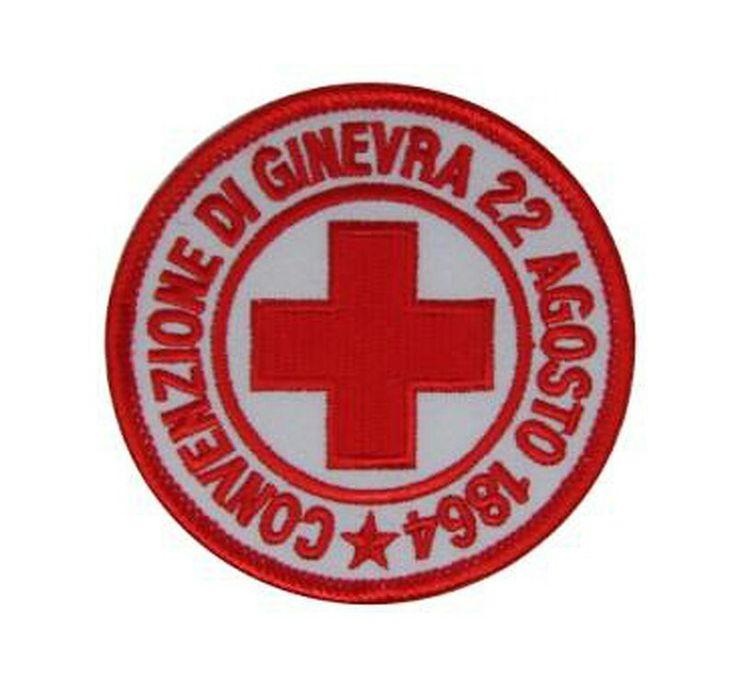 Patch Croce Rossa Italiana con retro termoadesivo. www.labottegadeldido.com