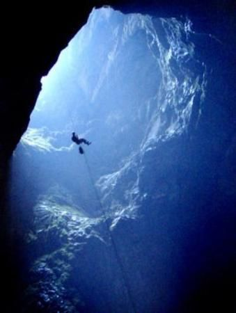 going down a big hole