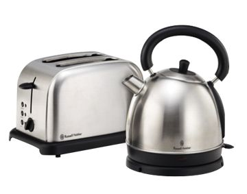 Features/Specifications Product code: RHBSS56 KETTLE:  Cordless 1.8L kettle Concealed element Boil-dry protection 1850-2200W  TOASTER:  2 slice wide slot toaster Variable electronic browning control Slide-out crumb tray Bread lift, anti-jam function Self-centering guide 850-1000W