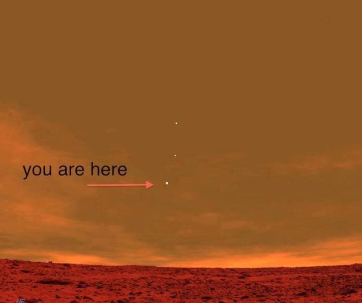 This is a picture from the Curiosity Rover on Mars showing Earth from the perspective of Mars.