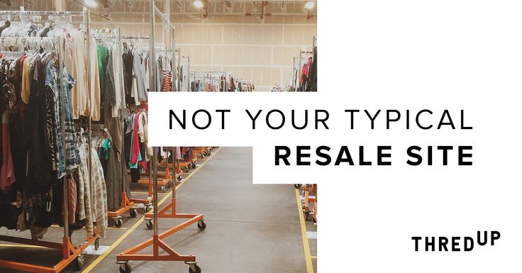thredUP puts the style in secondhand. Get your fix with one-of-a-kind designer clothes at a fraction of the price. Say goodbye to the hassle and inconvenience of local consignment shops and hello to the highest quality on-trend, in-season clothes at up to 90% off.