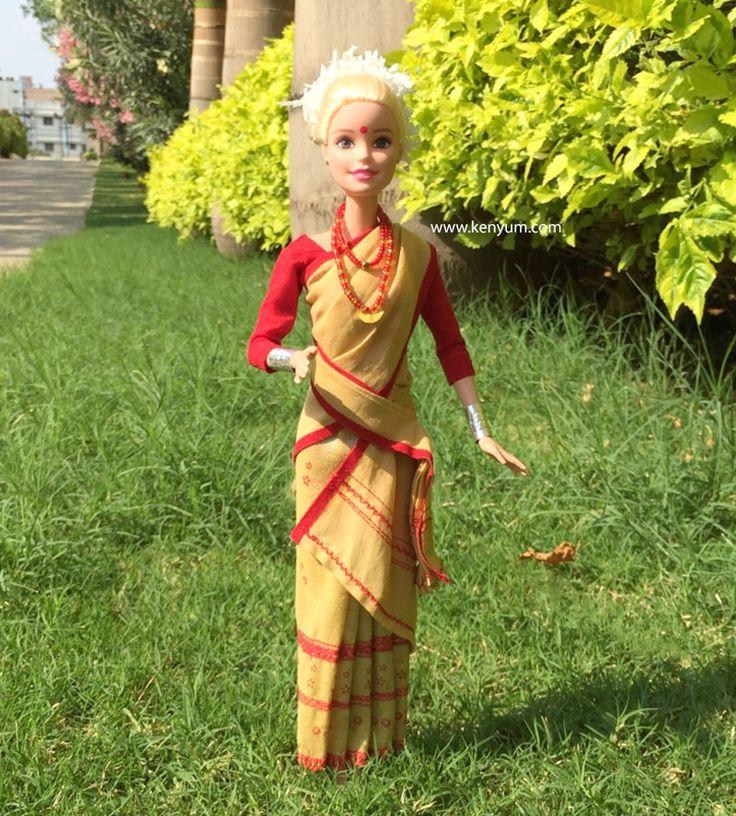 Bihu attire for Barbie dolls