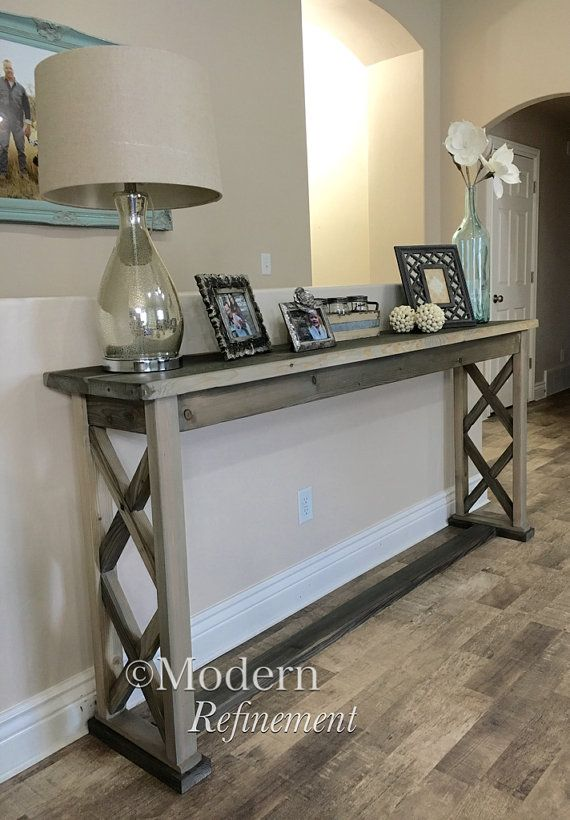 Rustic farmhouse entryway table by ModernRefinement on Etsy